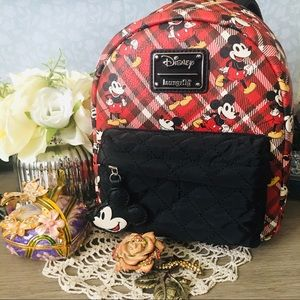🚨CCO Loungefly Plaid Disney Mickey Mouse Backpack
